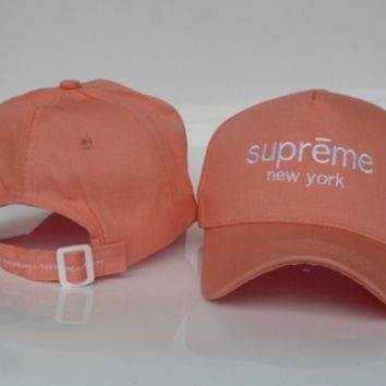 Supreme Women Men Embroidery Baseball Cap Hat Sport Sunhat