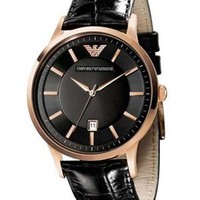 Emporio Armani AR2425 Men's Crocodile Print Band Quartz Watch - Style Quest Italy: Emporio Armani Watches - Modnique.com