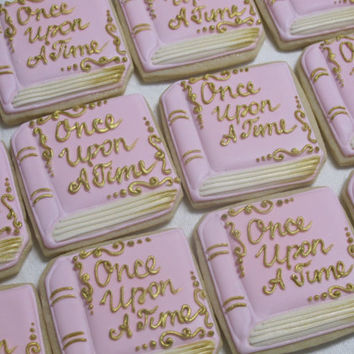storybook decorated sugar cookies fairy tales princess theme birthday party favors wedding