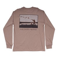 Hunt Club Long Sleeve Tee in Cashew by Southern Proper - FINAL SALE