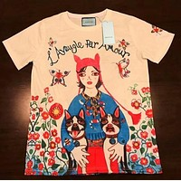 Gucci Popular Women Men Girl Print Short Sleeve Pullover Top Blouse T-Shirt I-GQHY-DLSX