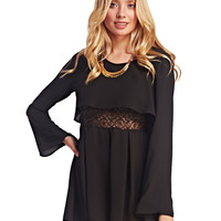 Urban Boho Bell Sleeve Romper | Wet Seal