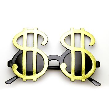 Money Dollar Signs Bling Fun Party Pimp Costume Novelty Glasses
