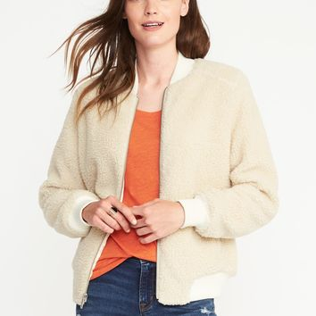 Sherpa Bomber Jacket for Women | Old Navy