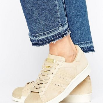 adidas Originals Khaki Superstar 80S Trainers at asos.com