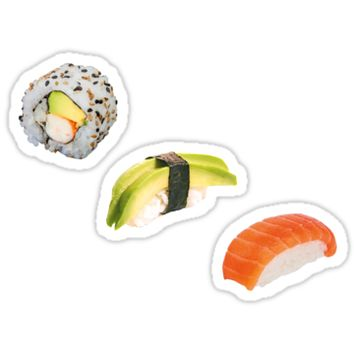 'Sushi set' Sticker by tropicalnoot