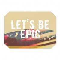 Artistic Placemat | Rachel Burbee | Lets Be Epic | Dianoche Designs