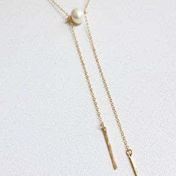 Bonnie Boardman Pearl Lariat Y Necklace