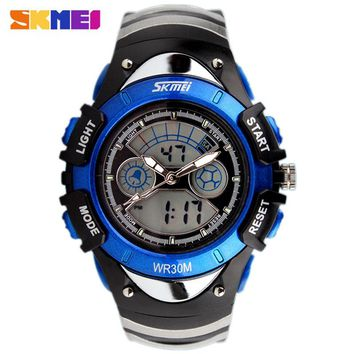 Fashion SKMEI Brand Children Sports Watches LED Digital Quartz Military Kids Watch Boy Girl Student Multifunctional Wristwatches
