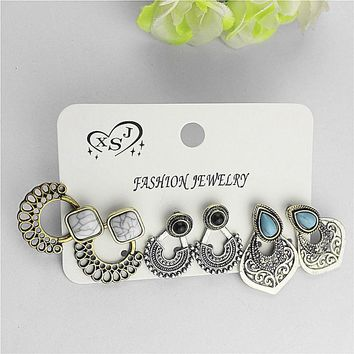 Three kinds of style restoring ancient ways birthday party gift wholesale girl can tear open outfit type earrings free shipping!