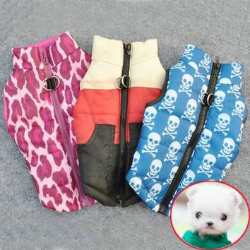 7 Colors Winter Warm Pet Dog Clothes Vest Harness Puppy Coat Jacket Apparel Large New