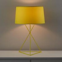 Kids Lighting: Yellow Steel Wire Table Lamp in Table Lamps | The Land of Nod