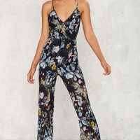 Foxiedox Grown Woman Floral Jumpsuit