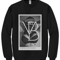"T.G.I.Fresh Clothing © — TGIF ""Young Bosses"" Crewneck in Black"