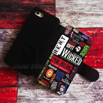 Broadway Musical Collage Wallet iPhone cases Samsung Wallet Leather Phone Cases