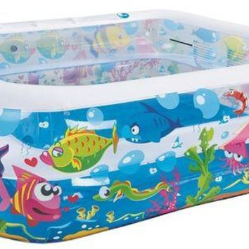 LMFMS9 57' Square Sea Life Themed Inflatable Children's Swimming Pool