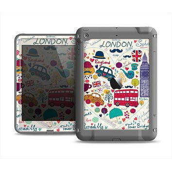 The Vector London Sketchbook Collage Apple iPad Air LifeProof Fre Case Skin Set