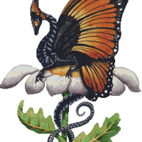 Modern Cross Stitch Kit 'The Monarch' By Carla Morrow - Dragon NeedleCraft Kit
