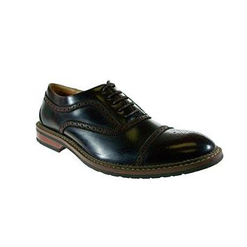 Men's 139005A Cap Toe Puncture Lace Up Oxford Dress Shoes