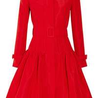 Oscar de la Renta Full-skirted silk-faille coat – 60% at THE OUTNET.COM