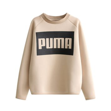 Causal Letter printed sweater  B0015538