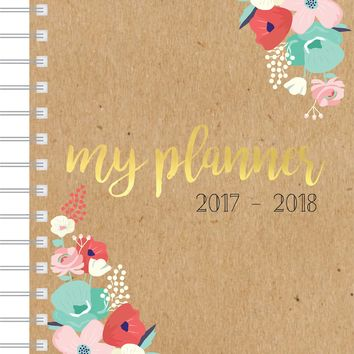 First Edition Dated Planner-Floral - 2017/2018