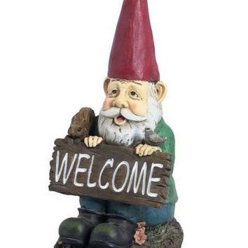 Welcome Sign Garden Gnome