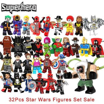 Deadpool Dead pool Taco 32Pcs/lot super hero Legoinglys Big Bane Wolverine  Star Wars The Flash Green Lantern Supergirl Spawn Building Blocks AT_70_6