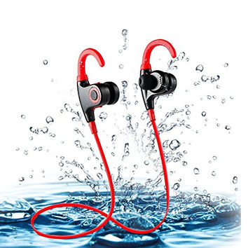 Bluetooth Headphones, Water-proof Wireless 4.1 Noise Cancelling Stereo Earphones, Secure Fit for Sports with Built-in Mic