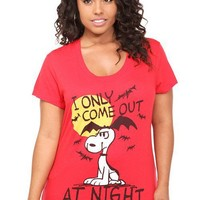 Doe - Peanuts Snoopy And Bats Tee | Tops