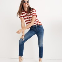 "9"" High-Rise Skinny Crop Jeans: Destructed-Hem Edition"