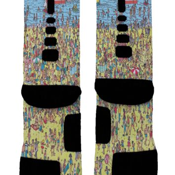 Where's Waldo? Custom Nike Elite Socks