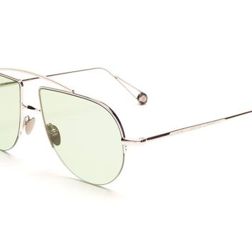 Place d'Aligre - White Gold With Sea Foam Green Lens