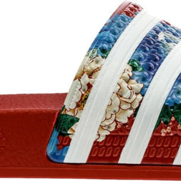 Adilette Slide Womens Sandal (Red/White)