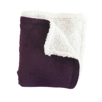 Shelley Purple Super Soft Melange Waffle Throw