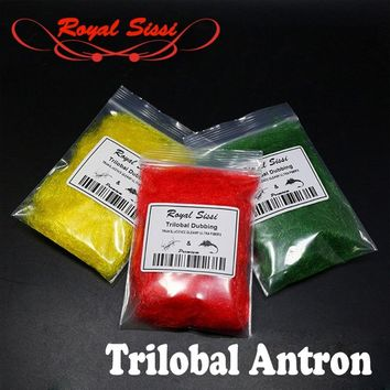 12 optional colors trilobal dubbing fly tying antron dubs translucence gleamy dubbing materials crystal czech buggy nymph dubs