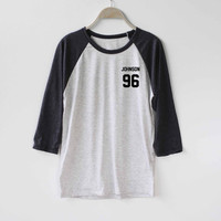 Johnson 96 Shirt Magcon Boys Shirt Baseball Raglan Shirt Tee TShirt