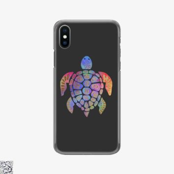 Sea Turtle Colorful Gold, Sea Turtles Phone Case