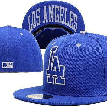 LMF8KY Los Angeles Dodgers New Era MLB Authentic Collection 59FIFTY Cap Blue LA