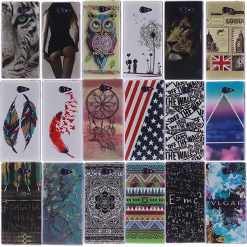 Cartoon Painting Soft Silicone TPU Cover Case For Sony Xperia M4 M2 M5 E4 T3 Z2 Z4 Z5 Z3 Compact X XA Ultra Performance Cases