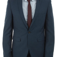 Forest Green Skinny Fit Suit Jacket - Mens Suits - Clothing