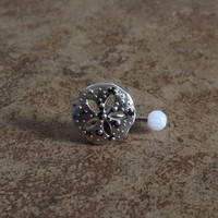 Sand Dollar Belly Button Ring Body Jewelry