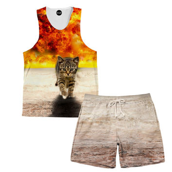 Kitty Explosion Tank and Shorts Rave Outfit