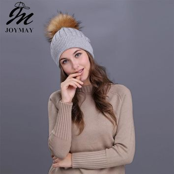 Pompom Beanies Solid Color Hat