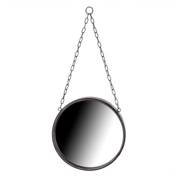 Round Metal Framed Wall Mirror Small
