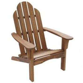Folding Natural Wood color Adirondack Chair  Size 38H X 28 X 28