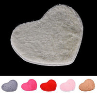 Absorbent Memory Foam Bath Bathroom Floor Shower Heart Mat Rug HU