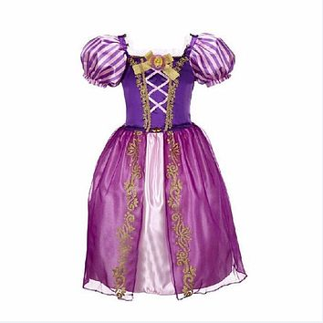 4-10 Year Big Kids Girls Christmas Carnival Costume Princess Girl Rainbow Dresses girls princess For Children Costume Vestidos