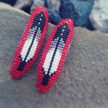 Vintage Native American Beaded Earrings