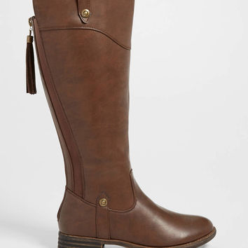 Sierra boot with gore and tassel in brown | maurices